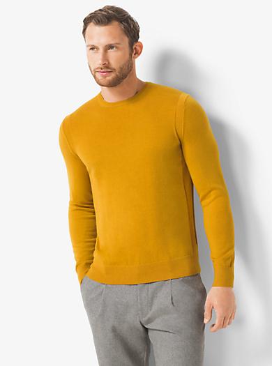 Merino Wool Crewneck Sweater by Michael Kors