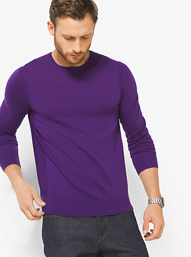 Pullover girocollo in lana merino by Michael Kors
