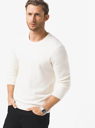 Wool-Blend Crewneck Sweater  by Michael Kors