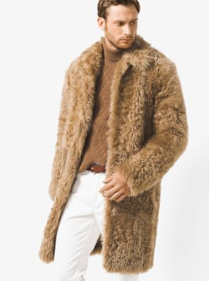 Shearling Teddy Bear Reefer by Michael Kors