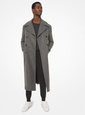 Michael Kors Wool Blend Coat,BANKER GREY