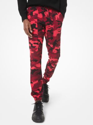 마이클 코어스 조거팬츠 Michael Kors Camouflage Woven Joggers,POP RED