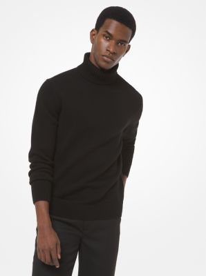 Michael Kors Wool Turtleneck Sweater,BLACK