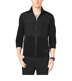 Nylon and Cotton Zip-Front Jacket