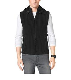 Puffer-Back Cotton Vest