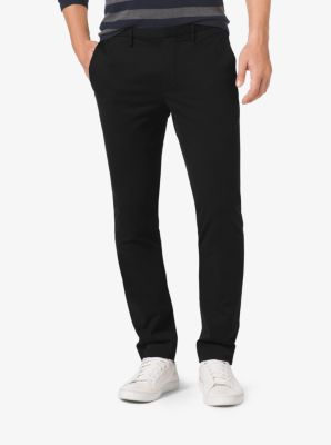 Slim-Fit Cotton Trousers by Michael Kors