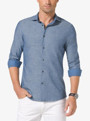 Slim-Fit Chambray Shirt by Michael Kors