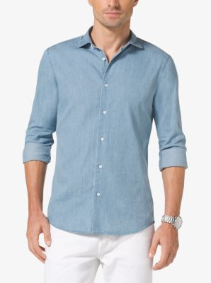 Slim-Fit Cotton-Twill Shirt by Michael Kors