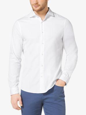 Slim-Fit Oxford Cotton Shirt by Michael Kors