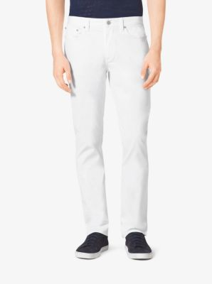 Tailored/Classic-Fit Stretch-Cotton Pants by Michael Kors