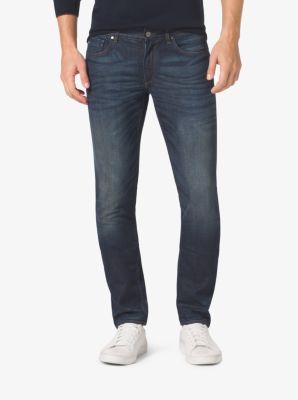 Slim-Fit Cotton-Stretch Jeans by Michael Kors
