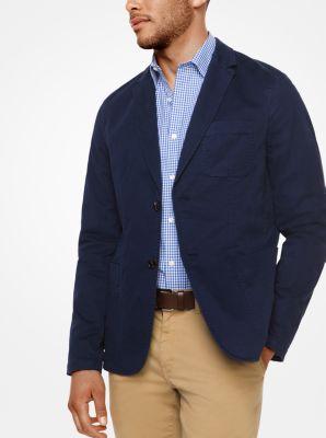 Cotton-Twill Blazer by Michael Kors