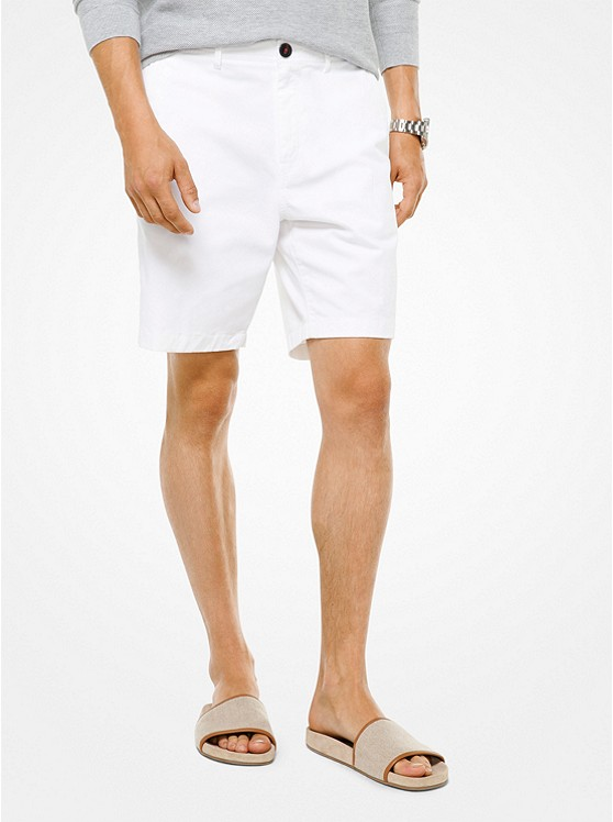 Slim-Fit Cotton-Twill Shorts | Michael Kors