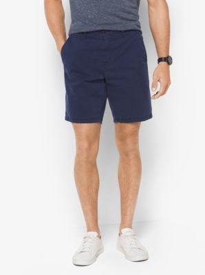 Slim-Fit Cotton-Twill Shorts by Michael Kors
