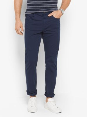 Slim-Fit Cotton-Twill Chinos by Michael Kors