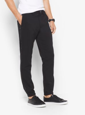 Stretch Tuxedo Track Pants by Michael Kors