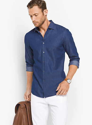 Camicia slim-fit in denim by Michael Kors