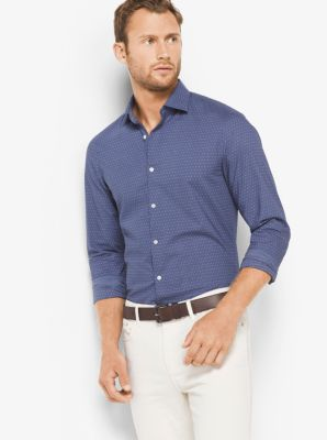 Slim-Fit Cotton Shirt by Michael Kors