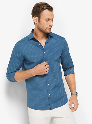 Camicia slim-fit in cotone by Michael Kors