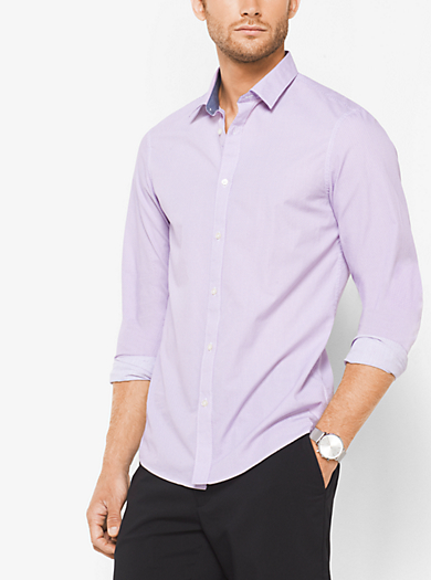 Camicia Boyd slim-fit in cotone stampato by Michael Kors
