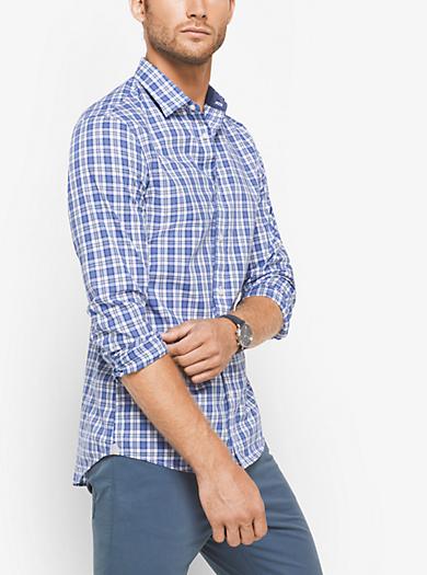 Camicia slim-fit in cotone a quadri by Michael Kors