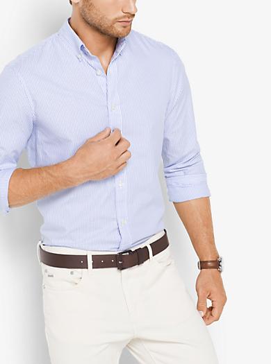 Camicia sartoriale classica in cotone a righe by Michael Kors