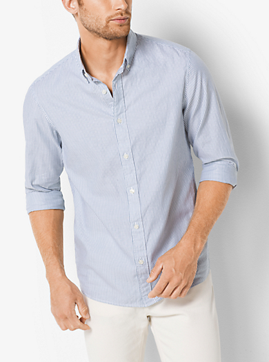 Gestreiftes Tailored-fit-Hemd aus Baumwolle by Michael Kors