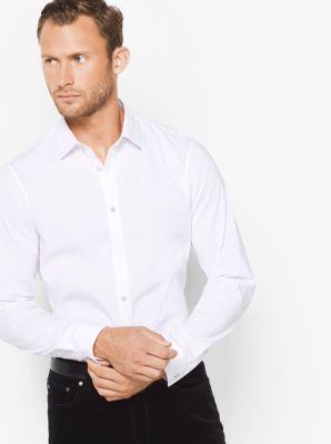 Slim-Fit Grosgrain Trim Shirt by Michael Kors