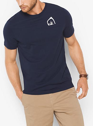 T-shirt in jersey con occhiali da sole by Michael Kors