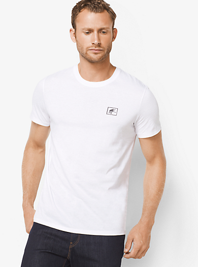 T-shirt in jersey con logo by Michael Kors