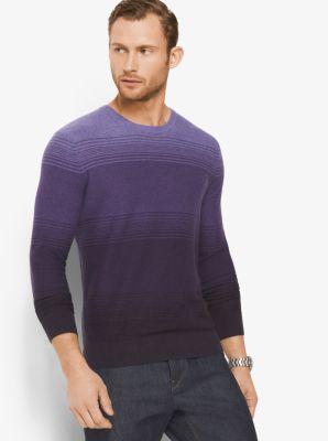 Ombré Cotton Crewneck Shirt by Michael Kors