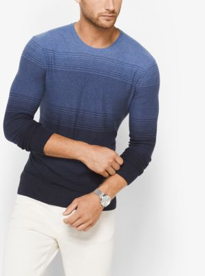 Ombré Cotton Crewneck Shirt by Michael Kors