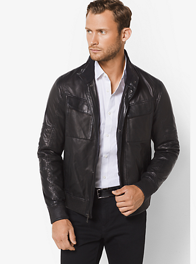 Giacca da moto in pelle by Michael Kors