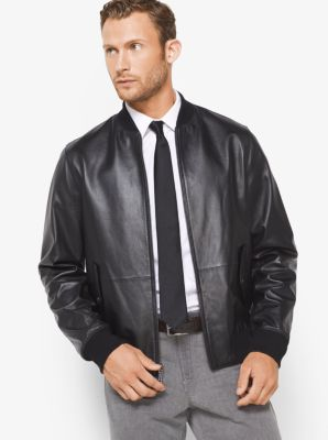 Reversible Leather and Nylon Jacket by Michael Kors