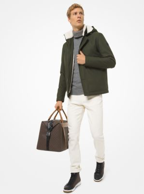 마이클 코어스 맨 캔버스 파카 Michael Kors Sherpa-Trim Canvas Parka,IVY