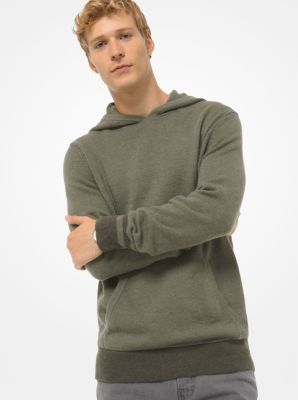 Michael Kors Nylon and Wool Blend Hoodie,SAGE