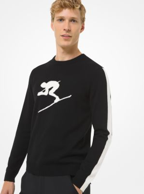 Michael Kors Nylon Ski Sweater,BLACK