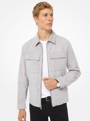 Michael Kors Suede Utility Jacket,ALLOY