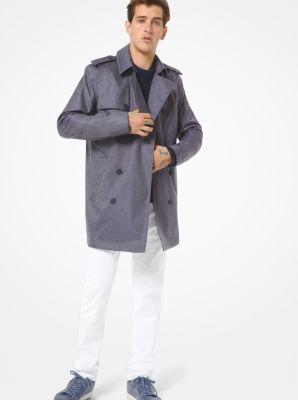 마이클 코어스 맨 데님 트렌치 코트 Michael Kors Denim-Weave Trench Coat, INDIGO