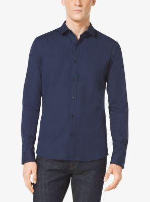 Slim-Fit Stretch-Cotton Shirt by Michael Kors