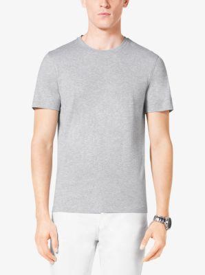 Cotton-Jersey Crewneck T-Shirt by Michael Kors