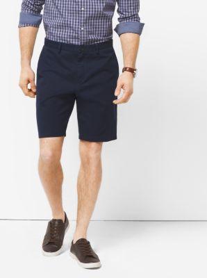 Slim-Fit Stretch-Twill Shorts by Michael Kors