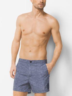 Dot-Print Swim Shorts by Michael Kors