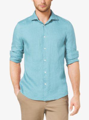 Slim-Fit Linen Shirt by Michael Kors