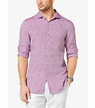Slim-Fit Chambray Linen Shirt