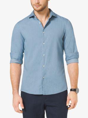 Slim-Fit Denim Shirt by Michael Kors