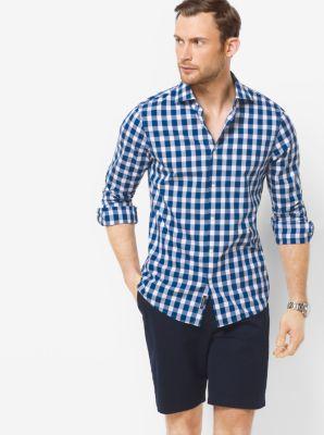 Slim-Fit Check Cotton Shirt by Michael Kors