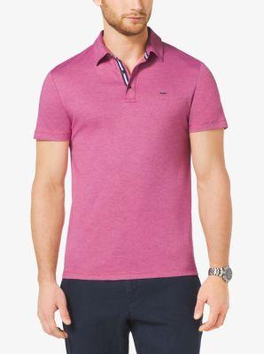 Cotton-Pique Polo Shirt by Michael Kors