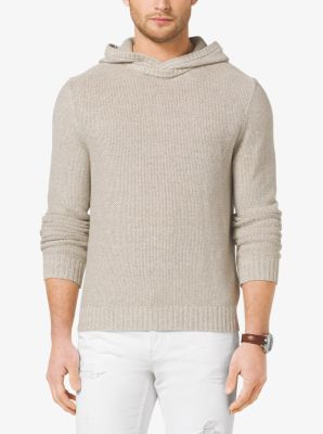Hooded Cotton Sweater by Michael Kors