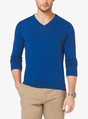 Cotton V-Neck Sweater by Michael Kors